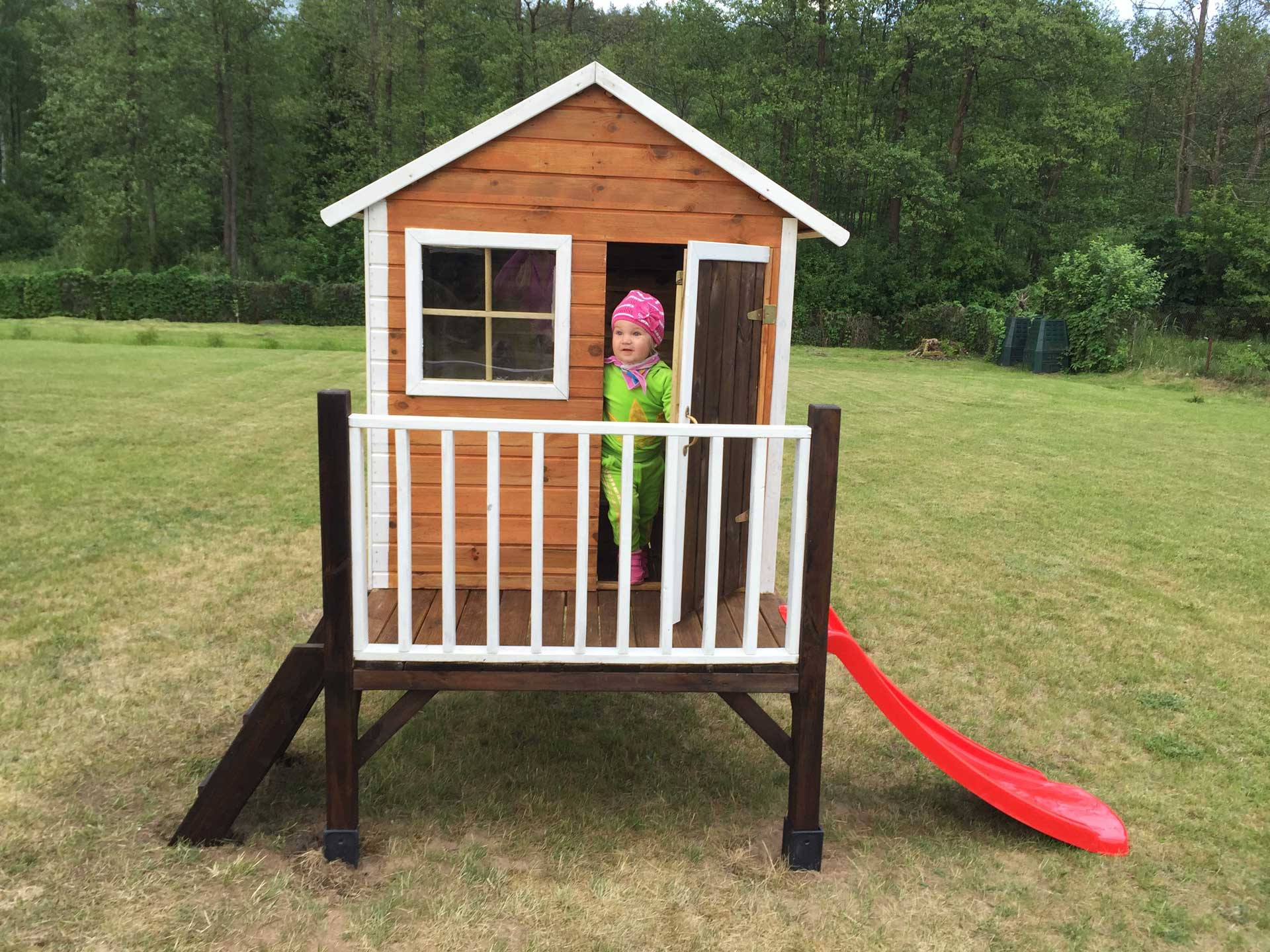 Childrens Wooden Playhouse žiogelis 4iq